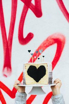 StudioDIY // A Love Wall, A Heart Cake   A Bunch of Balloons