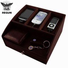 Regun Luxury Table Tidy - Brown