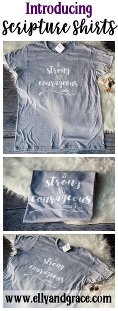 Be Strong and Courageous - Joshua 1:9 If you're looking for the softest short sleeve shirt, look no further! This will be the softest shirt you own and makes a great gift. You can also get this style