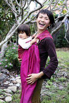 Toddler Babywearing in the Hugabub Ring Sling