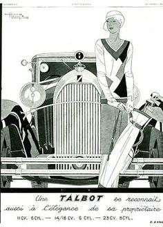 """Former advertising """"Elegance Car Talbot's Prop 1929"""" R.  Lang"""