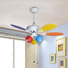 Attractive 42 1060 Multicolour #child Ceiling Fan Lights Modern Fashion Child Real  Small Fan Pendant Light
