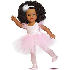 """love love... not unusual to find me in the doll isle at Wal-Mart.. still love the babies.. remembering a beautiful doll us girls got one Christmas.. was likely $5 instead of $28!! 18"""" My Life As Ballerina Dressed Doll, African American"""