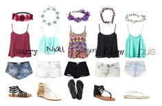 """Summer Day One Direction"" by amaya173 ❤ liked on Polyvore"