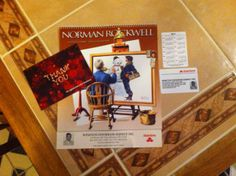 """Thank You from State Farm: """"As soon as I got into the house, I ripped open the package and found that my lovely State Farm agent had sent me a Custom Norman Rockwell 2014 Calendar, 2 wallet calendars and a festive holiday 'Thank You' postcard."""" #calendars #promotionalproducts #normalrockwell #statefarm"""