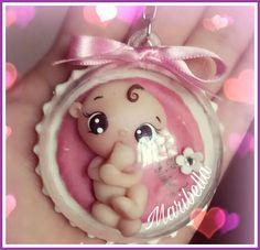 Llavero bebe burbuja porcelana fría