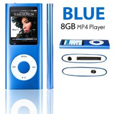 eLifeStore® 8GB MP3 MP4 Player with FM Radio, Games, Voice Recorder