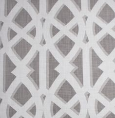Elton, Mushroom larger scale geometric trellis print in warm and cozy neutrals.