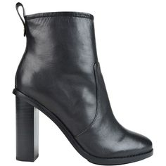 PAUL SMITH Malton Ankle Boots (€180) ❤ liked on Polyvore featuring shoes, boots, ankle booties, black, black leather boots, black leather booties, black leather bootie, high heel boots and short black boots
