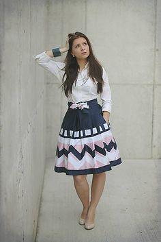 sugkrasisa / Zavinovací sukně IRIS, s růžovou