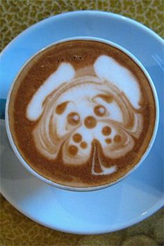 Coffee art! #luxuryart | Twitter - @lacostemedia