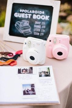 Polaroid wedding guest book / www.deerpearlflow...