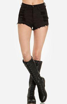 Distressed Cut Off Shorts | DAILYLOOK