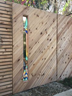 <p>Los Angeles based David Scheid has some very nice handmade stained glass. He has a great collection of one of kind triangles, but he also do custom work for private residence. Be sure to check his