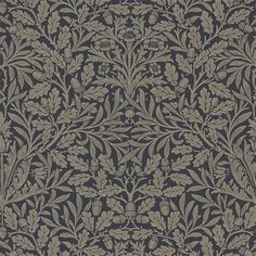 The Original Morris & Co - Arts and crafts, fabrics and wallpaper designs by William Morris & Company | Products | British/UK Fabrics and Wallpapers | Pure Acorn (DMPU216033) | Pure Wallpapers