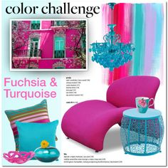 Color Challenge: Fuchsia and Turquoise by cruzeirodotejo on Polyvore featuring interior, interiors, interior design, home, home decor, interior decorating, Dot & Bo, Kosta Boda, colorchallenge and fuchsiaandturquoise