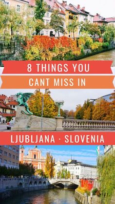 Heading to Ljubljana Slovenia for a trip? Here are the 8 things you can't miss in Ljubljana Slovenia (one of my favorite places on earth)! Europe Travel Tips, European Travel, Travel Guides, Travel Destinations, Travel Pics, Lonely Planet, Travel Around The World, Around The Worlds, Facades