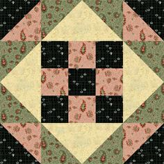 Easy Quilt Block Pattern with Nine Patch Centers