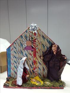 Presépio- papel reciclado por Elmar-Oficina d´Artes