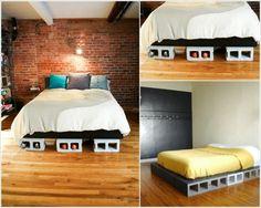 Trang trí nhà với gạch block bê tông