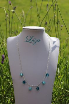 Turquoise Necklace, Beaded Necklace, Extension, Html, Swarovski, Creations, Boutique, Jewelry, Crystal