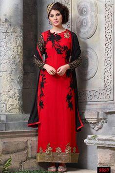 Bewitching Long Length Designer Salwar Kameez