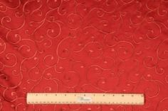 Padua in Fire Embroidered Poly Sateen Decorator Fabric by Bravo $7.95 per yard