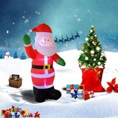 Inflatable Santa Claus Christmas Outdoor Decoration Xmas w/ LED Light Tall 180cm