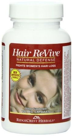 After losing hair due to illness, this was the one product that brought back my old hair and then some!!!  RidgeCrest Herbals Hair Revive Natural Defense Fights Women's Hair Loss Veg Caps 120 RidgeCrest Herbals.