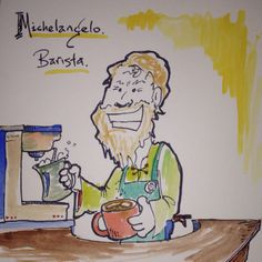 What would Michelangelo create today? Latte Art, Michelangelo, Time Travel, Adventure Travel, Movie, Culture, History, Create, Historia