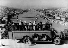 The Gellért Hill viewpoint by omnibus. Old Photos, Vintage Photos, In Another Life, Budapest Hungary, Eastern Europe, World War Two, Homeland, Tao, History