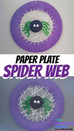 Get ready for halloween with this sweet and easy yarn laced paper plate spider web craft idea for kids. Halloween Crafts for Kids | Yarn Crafts for Kids #craftsforkids #halloweencraftsforchildren #spiderwebcraft #paperplatecraft #yarnlacingcraft Mummy Crafts, Yarn Crafts For Kids, Toddler Crafts, Preschool Crafts, Fun Crafts, Snake Crafts, Recycled Crafts For Kids, Paper Craft For Kids, Autumn Crafts For Kids