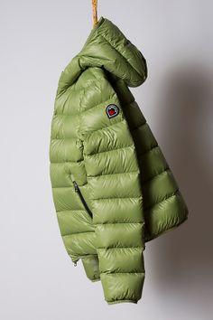 piumino leaf green, light down jacket Goose Feel