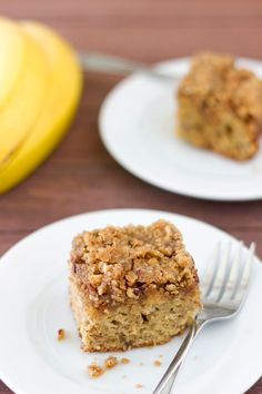 Brown Butter Banana Coffee Cake - Foooddy