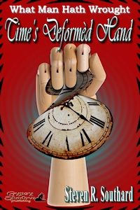 #gypsyshadow #althistory #clockpunk  Time for zany mix-ups in a clock-obsessed village. Long-separated twins, giant automatons, and Shakespeare add to the madcap comedy. Read it before it's too late! Time's Deformèd Hand	by Steven R. Southard. Available from Amazon, Barnes and Noble, Smashwords, other fine eBook vendors and Gypsy Shadow Publishing at:  http://www.gypsyshadow.com/StevenSouthard.html#TimesHand