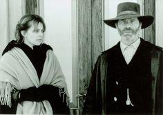 Nastassja Kinski e Peter Mullan in 'The Claim - Le bianche tracce della vita' (2000); regia: Michael Winterbottom