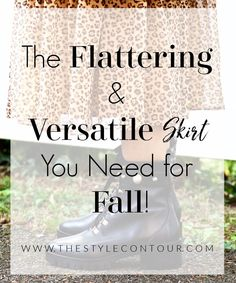 I'm sure many of you have heard that midi skirts are the way to go come fall and that they're chic and versatile, too. While I do agree with all of those claims, I will say that a basic midi skirt isn't always flattering for all body shapes. When you're bottom curvy, a satin or basic midi style can cling and essentially not flatter at all. What I believe looks good on all body shapes is...(CLICK THIS PHOTO TO VISIT THE BLOG TO LEARN MORE!) Apple Body Shapes, Hips Dips, Flattering Outfits, Throw In The Towel, Skirts With Boots, Extra Fabric, Midi Skirts, Skirt Fashion, Nice Tops