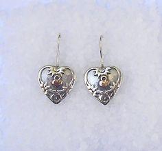 Valentine Heart earrings Sterling silver by HedvaElanyJewelry, $70.00