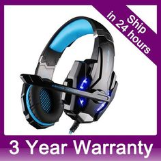 Gaming Headset Headphone for PlayStation 4 PS4 Tablet PC iPhone 6/6s/6 plus/5s/5 Mobilephones, 3.5mm Headphone with Microphone
