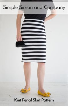 Knit Pencil Skirt Pa