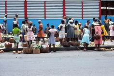 Going to the Market - Castries, Castries - Saint Lucia
