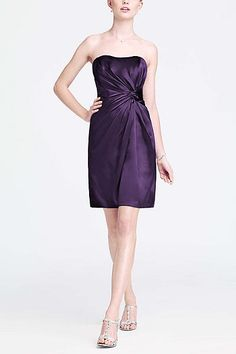 Short Charmeuse Dress with Knot Detail F15128