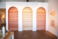 15 Ways Beauty Brands Play with Product and Color at Events Window Display Retail, Retail Displays, Shop Displays, Window Displays, Salon Interior Design, Salon Design, Beauty Salon Interior, Design Shop, Retail Store Design