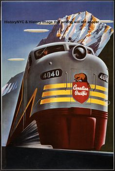 This Canadian Pacific Train Wall Decal is perfect for locomotive lovers. Featuring an image of the Canadian Pacific,this removable train sticker is easy to apply and remove. Old Poster, Poster Art, Retro Poster, Art Deco Posters, Poster Prints, Art Prints, Design Posters, Train Posters, Railway Posters