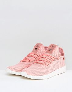 outlet store 4d32b 95ba7 adidas Originals x Pharrell Williams Tennis HU Sneakers In Pink BY8715  Adidas Outfit, Adidas Sneakers