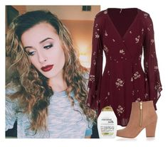 """My Heart Is Drenched In Wine..."" by avamancuso ❤ liked on Polyvore featuring moda, Free People, River Island e Organix"