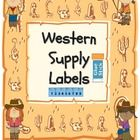 This is a set of classroom supplies labels for a Western / Cowboy theme classroom. .  Includes 28 Supply Labels and 2 blank labels to personalize t...