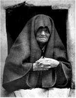 José Ortiz Echagüe. «Ventana de Ansó», 1927. Detalle (Pulse sobre la imagen para verla ampliada)