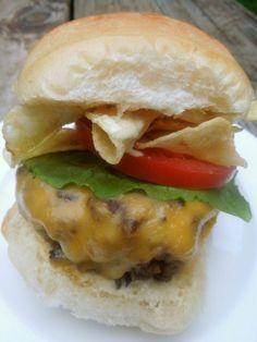 How to make Bobby Flays Crunch Burger - his signature burger