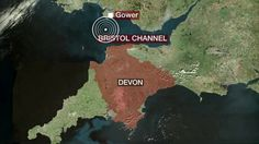 Map of quake in the Bristol Channel